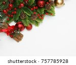 christmas cinammon and... | Shutterstock . vector #757785928