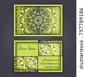 luxury business cards with... | Shutterstock .eps vector #757789186