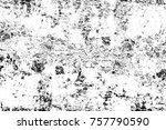 grunge black and white seamless ... | Shutterstock . vector #757790590
