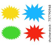 starburst speech bubbles set ... | Shutterstock .eps vector #757790968
