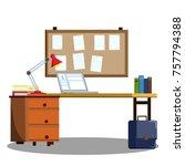 cartoon flat illustration  ... | Shutterstock .eps vector #757794388