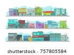 city long street. set of... | Shutterstock .eps vector #757805584