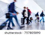 passenger in the walking at the ... | Shutterstock . vector #757805890