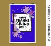 happy thanksgiving vector... | Shutterstock .eps vector #757808650
