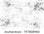 grunge black and white seamless ... | Shutterstock . vector #757808983