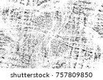 grunge black and white seamless ... | Shutterstock . vector #757809850