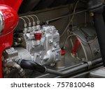 clean tractor engine  | Shutterstock . vector #757810048