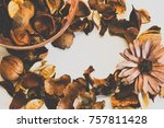 dried scented flower  the way... | Shutterstock . vector #757811428