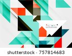 triangle pattern design... | Shutterstock .eps vector #757814683