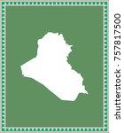 iraq map vector outline... | Shutterstock .eps vector #757817500