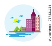 vector flat scene design... | Shutterstock .eps vector #757821196
