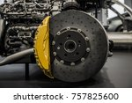 automobile braking system.... | Shutterstock . vector #757825600