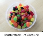 colorful fruit jelly | Shutterstock . vector #757825870