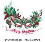 beautiful festive christmas... | Shutterstock . vector #757825906