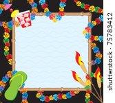 hawaiian pool party invitation. ... | Shutterstock .eps vector #75783412