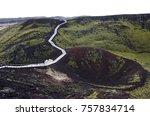 volcano crater in western...   Shutterstock . vector #757834714