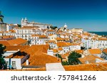 panoramic view of downtown...   Shutterstock . vector #757841266