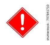 hazard warning attention sign...   Shutterstock .eps vector #757841710
