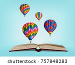 visual drawing of colorful hot... | Shutterstock .eps vector #757848283