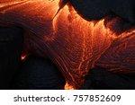 lava flow in hawaii   Shutterstock . vector #757852609