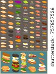editable mix and match sub ... | Shutterstock .eps vector #757857526