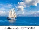 Sailing Ship In A Beautiful...