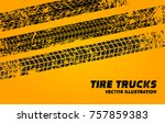 vector stock wheel grunge tire... | Shutterstock .eps vector #757859383