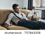 interesting article. stylishly... | Shutterstock . vector #757863358