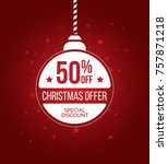 christmas offer template design ... | Shutterstock .eps vector #757871218
