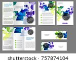 set of color abstract brochure... | Shutterstock .eps vector #757874104