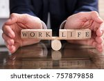 close up of a businessperson's... | Shutterstock . vector #757879858