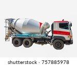 soft cement truck mixer cement... | Shutterstock . vector #757885978