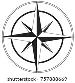 black and white guiding star | Shutterstock .eps vector #757888669
