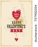 valentine's day creative card... | Shutterstock .eps vector #757900204