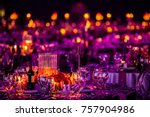 christmas lights and... | Shutterstock . vector #757904986