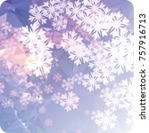 abstract winter background with ... | Shutterstock .eps vector #757916713