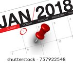 close up of first day of the... | Shutterstock . vector #757922548