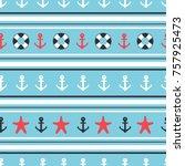 marine seamless patterns.... | Shutterstock .eps vector #757925473