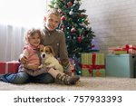 boy and little girl with a...   Shutterstock . vector #757933393