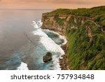 landscape from uluwatu temple... | Shutterstock . vector #757934848