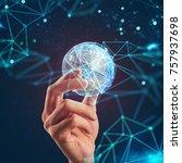 manage global internet... | Shutterstock . vector #757937698