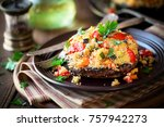stuffed mushroom   delicious... | Shutterstock . vector #757942273