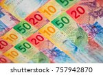 collection of the new swiss... | Shutterstock . vector #757942870