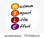 mile   maximum impact little... | Shutterstock .eps vector #757948114