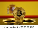 physical version of bitcoin ... | Shutterstock . vector #757952938