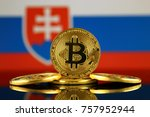 physical version of bitcoin ... | Shutterstock . vector #757952944