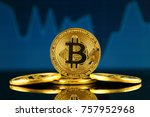 physical version of bitcoin ... | Shutterstock . vector #757952968