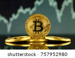 physical version of bitcoin ... | Shutterstock . vector #757952980