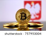 physical version of bitcoin ... | Shutterstock . vector #757953004