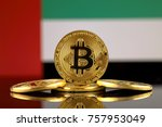 physical version of bitcoin ...   Shutterstock . vector #757953049